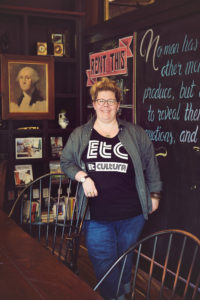Lea Umberger, one of the 4 founders of Et Cultura Festival, at Station House St. Pete.