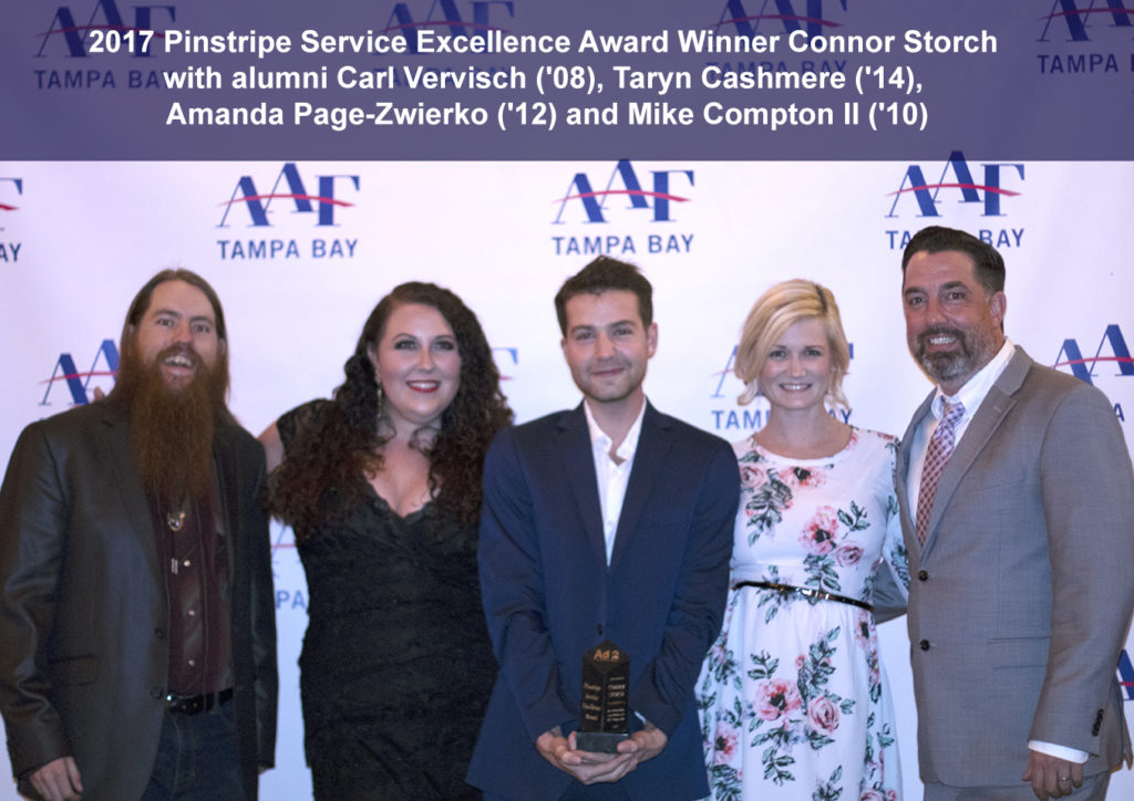Ad 2 Tampa Bay Pinstripe Service Excellence Award Alumni 2017