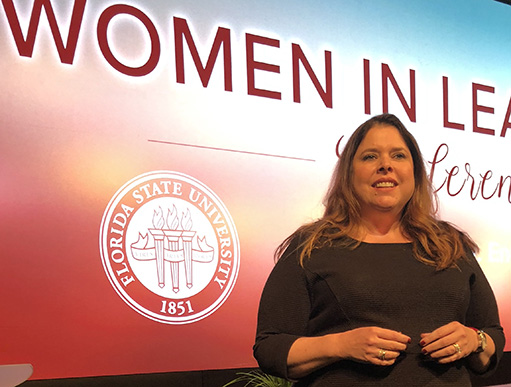 Ginger Reichl presents at FSU Women in Leadership Conference