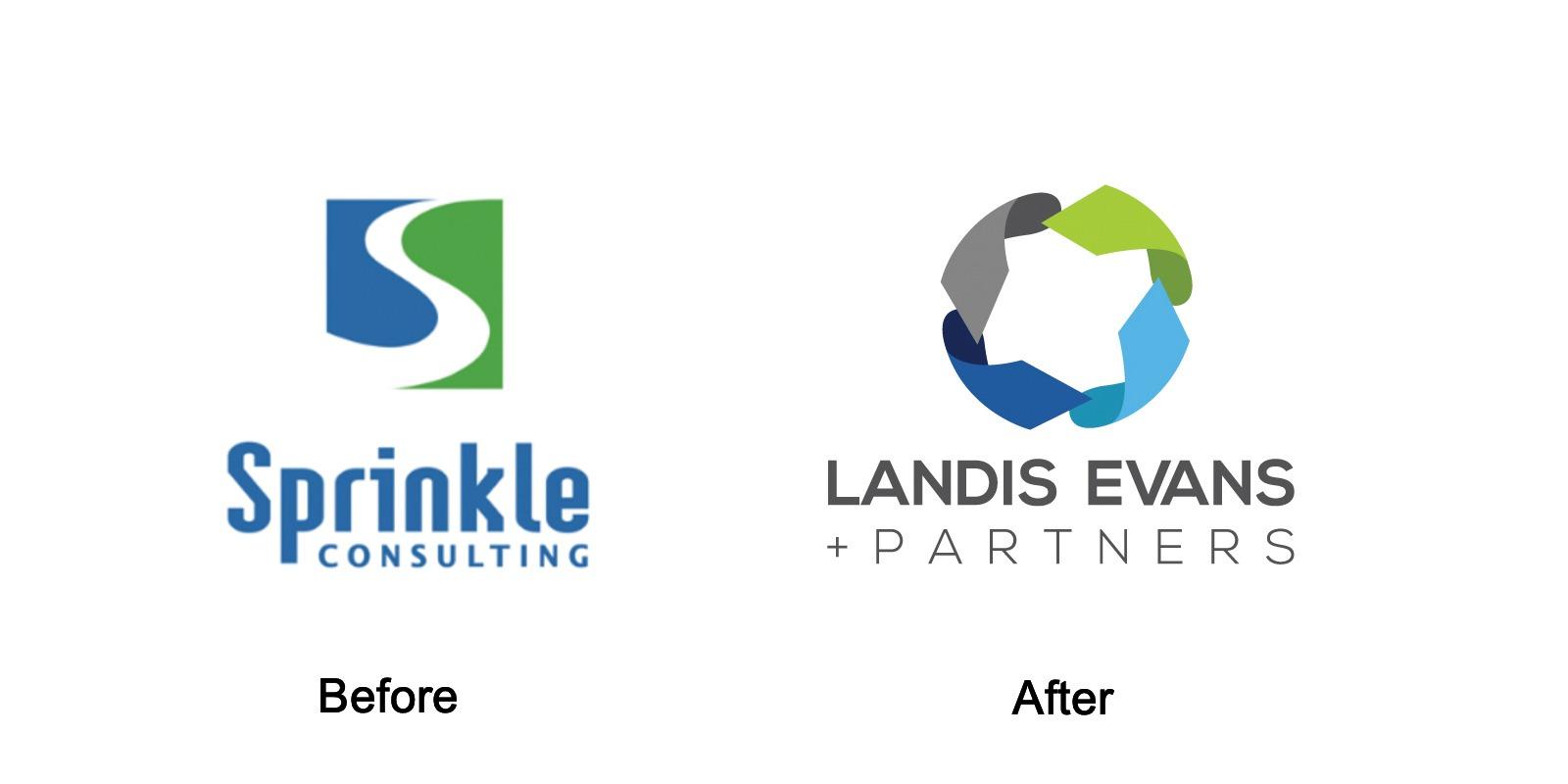 landis evans logo design