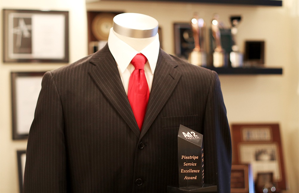 Ad 2 Tampa Bay Pinstripe Service Excellence Award