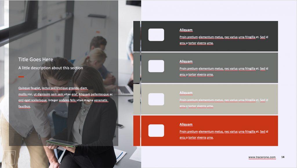 marketing presentation template design