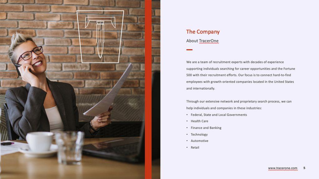 tracerone presentation template design