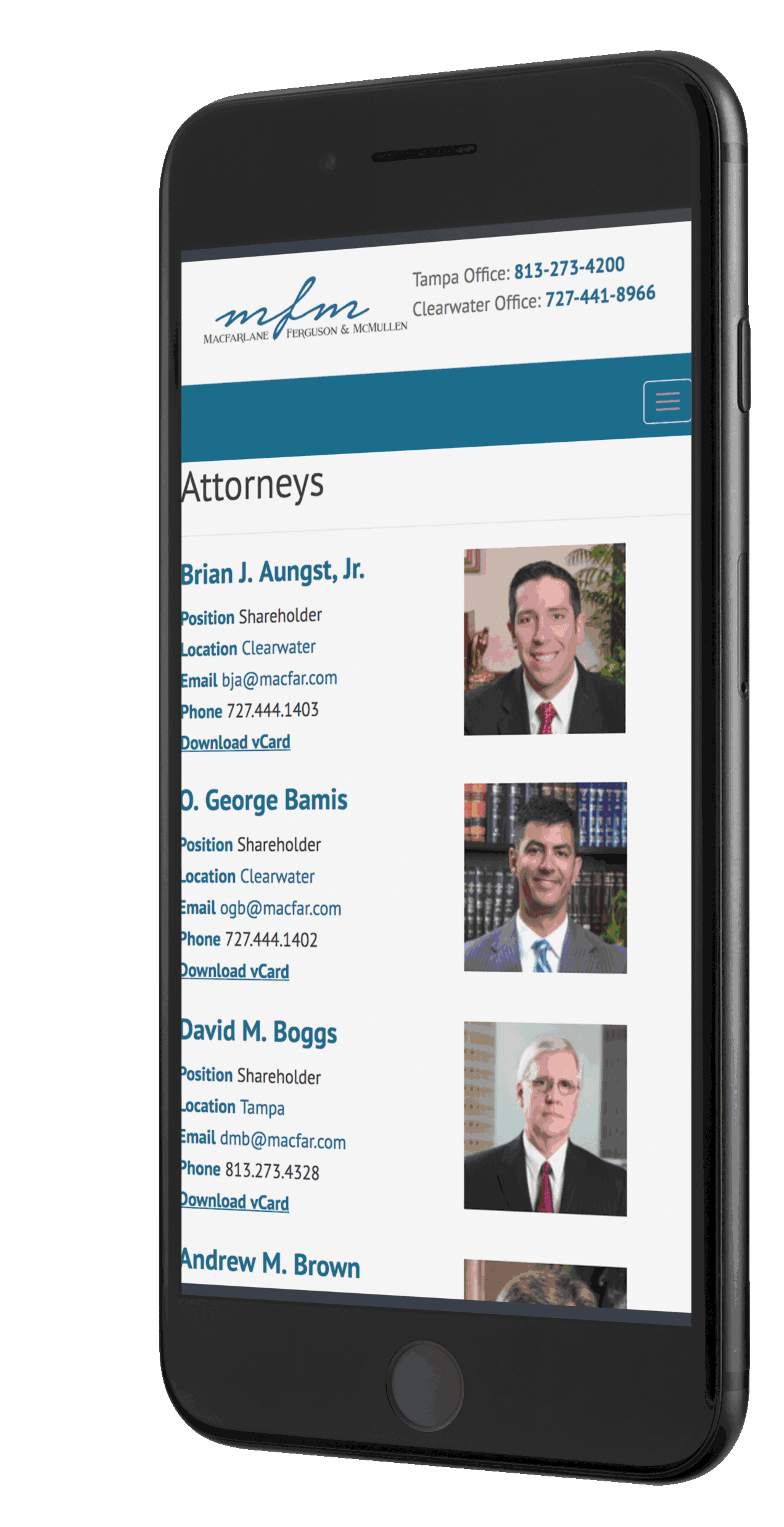 Tampa Bay law firm web design